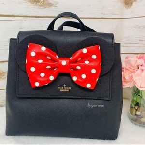 KATE SPADE MINNIE MOUSE BLACK BACKPACK RED
